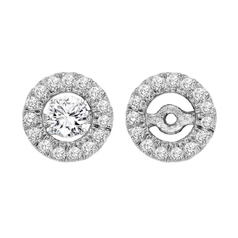 14K Diamond Earrings Round Jacket 1/5 ctw (for 1/2 ctw Studs)