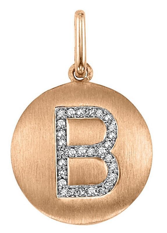 "10KP Diamond Initial Pendant ""B"""
