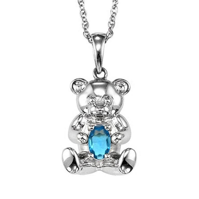 Silver Aquamarine Pendant