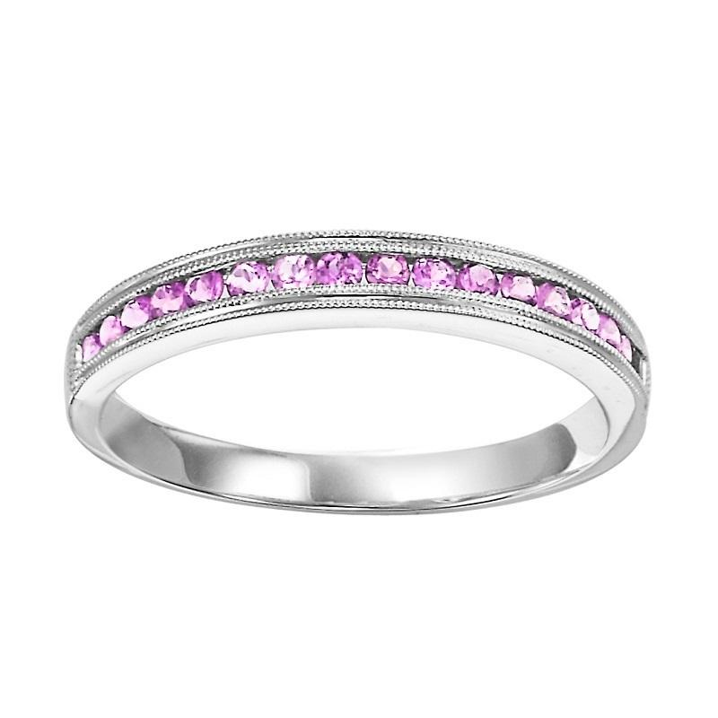 10K Pink Sapphire Mixable Ring