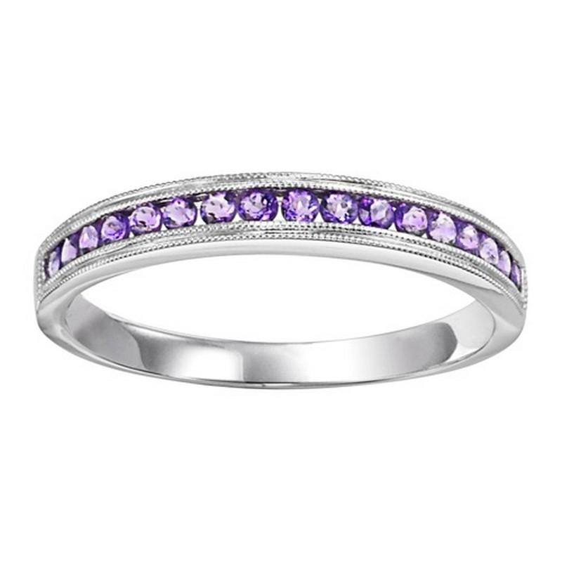 14K Amethyst Mixable Ring