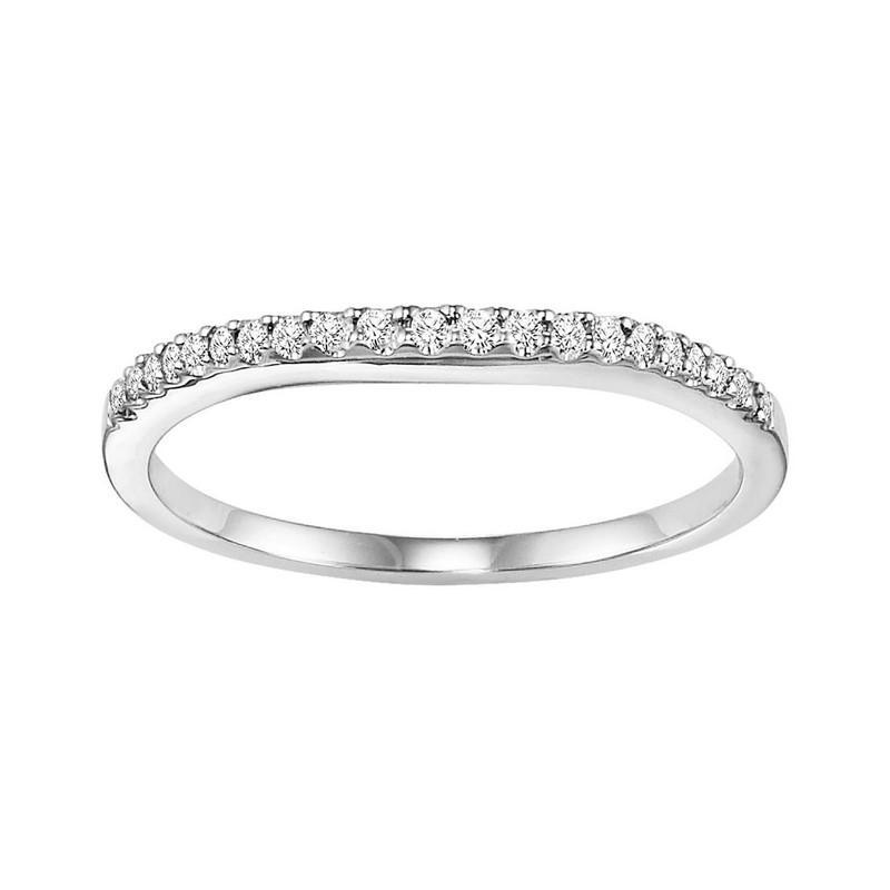 14K Diamond Matching Band 1/10 ctw