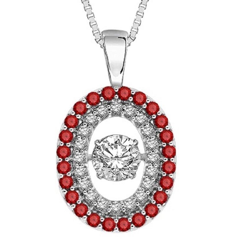 14K Ruby & Diamond Rhythm Of Love Pendant