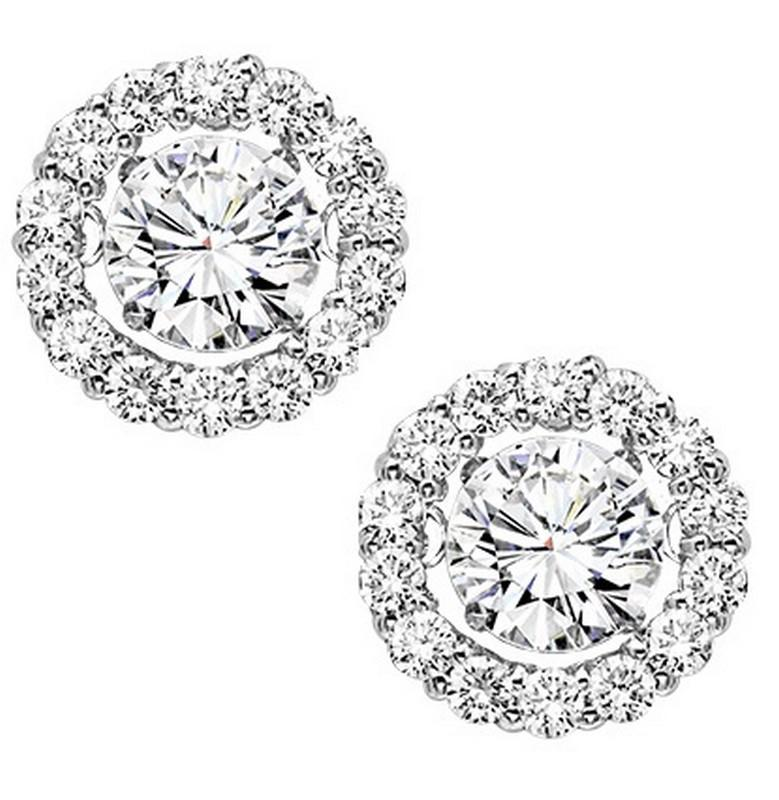 14K Diamond Rhythm Of Love Earrings 1 ctw