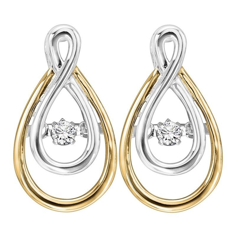 14K Diamond Rhythm Of Love Earrings 1/8 ctw