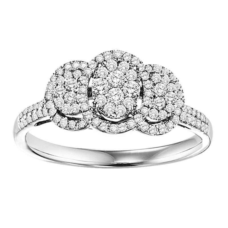 14K Diamond Engagement Ring 1/2 ctw Complete