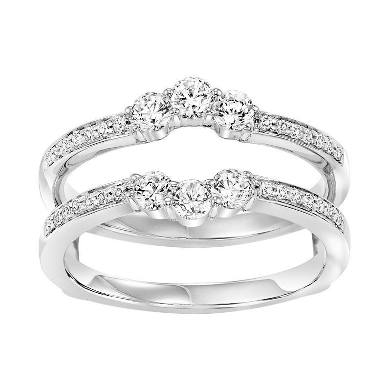 14K Diamond Insert Ring 5/8 ctw