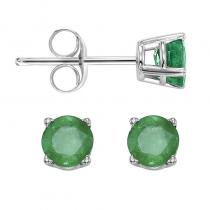 14K Emerald Studs 4 mm Rd