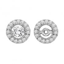 14K Diamond Earrings Round Jacket 1/4 ctw (for 1 1/2 ctw Studs)