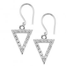 Silver Diamond Earrings 1/3 ctw