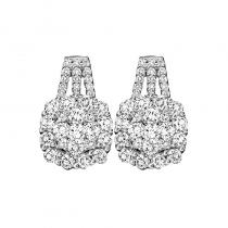 14K Diamond Earrings 2 ctw