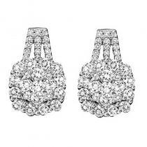 14K Diamond Earring 3 ctw