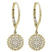 10K Diamond Earrings 1/5 ctw