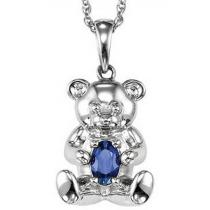 Silver Sapphire Pendant