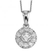 14K Diamond Pendant 1/4 ctw