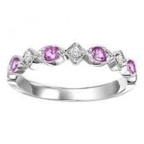 14K Pink Sapphire & Diamond Mixable Ring