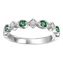 14K Emerald & Diamond Mixable Ring