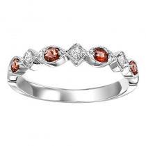 14K Garnet & Diamond Mixable Ring