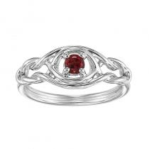 Silver Garnet Ring (Available In all BirthStones)
