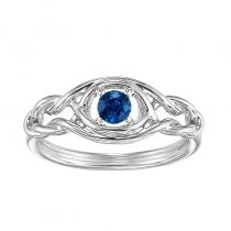 Silver Sapphire Ring (Available In all BirthStones)