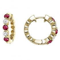 14KY Ruby & Diamond Earrings