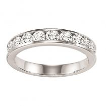 14K Diamond Channnel Set Band 1/4 ctw