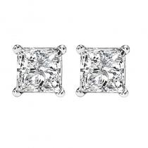 14K P/Cut Diamond Studs 1 1/4 ctw P1