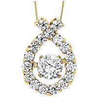 14K Diamond Rhythm Of Love Pendant 1/2 ctw