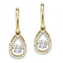 14K Diamond Rhythm Of Love Earrings 3/4 ctw