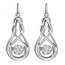 Silver Diamond Rhythm Of Love Earrings