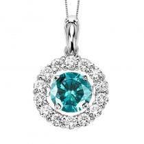 14K Blue Diamond Diamond Rhythm Of Love Pendant
