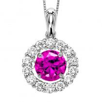 14K Pink Diamond Rhythm Of Love Pendant