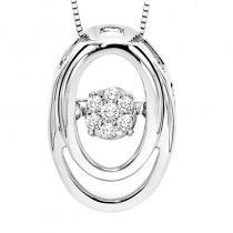 Silver Diamond Rhythm Of Love Pendant