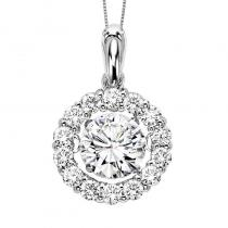 14K Diamond Rhythm Of Love Pendant 2 ctw (With Center)