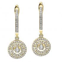 14K Diamond Rhythm Of Love Earrings 1/2 ctw