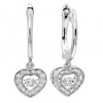 14K Diamond Rhythm Of Love Earrings 1/4 ctw