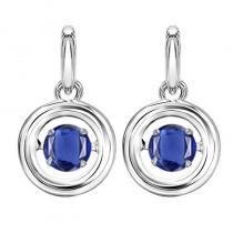 Silver Sapphire Rhythm Of Love Earrings