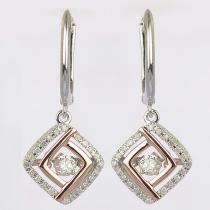 Silver Rhythm Of Love Earring
