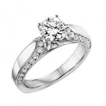 14K Diamond Engagement Ring 1/2 ctw