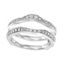 14K Diamond Insert Ring 1/3 ctw