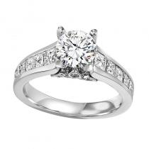 14K Diamond Engagement Ring 1 1/2 ctw