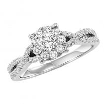 14K Diamond Dynamix Engagement Ring 3/4 ctw