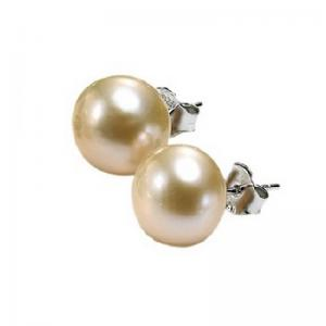 Silver Fresh Water Pink Pearl Studs 6 mm