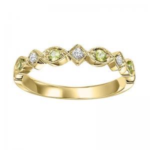 14K Peridot & Diamond Mixable Ring