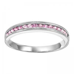 14K Pink Tourmaline Mixable Ring