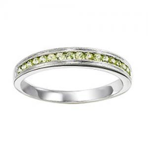 14K Peridot Mixable Ring