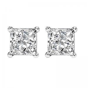14K P/Cut Diamond Studs 1 1/2 ctw P3