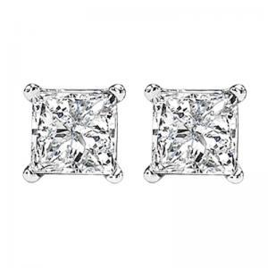 14K P/Cut Diamond Studs 2 ctw P2