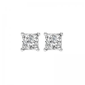 14K P/Cut Diamond Studs 1/3 ctw P1
