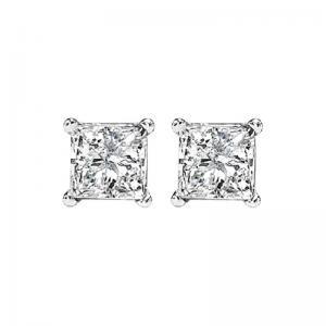 14K P/Cut Diamond Studs 5/8 ctw P1